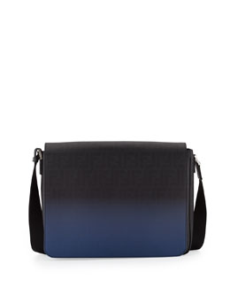 Fendi Men's Zucca Ombre Messenger Bag, Black/Blue
