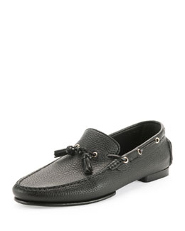 Grant Tassel Driver Loafer, Black