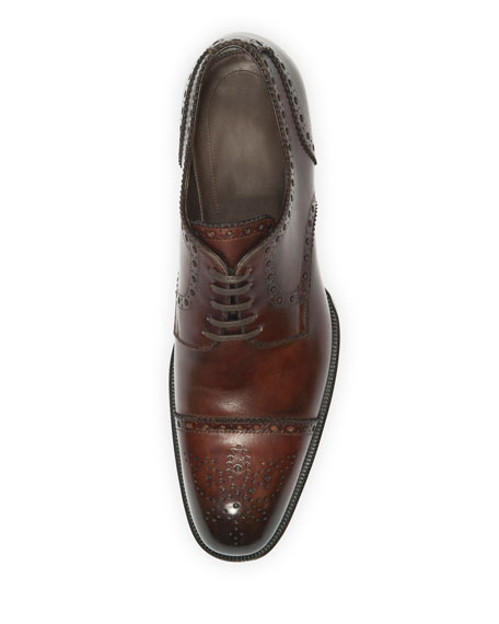 Edward Med-Cap Wing-Tip Brogue, Brown