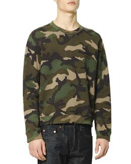Camo-Print Sweatshirt, Green