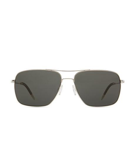 Clifton Polarized Sunglasses, Silver