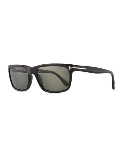 Hugh Acetate Sunglasses, Black