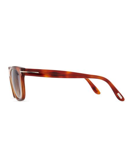 Leo Acetate Sunglasses, Light Brown