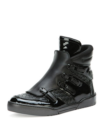 image of bottega veneta high top sneaker