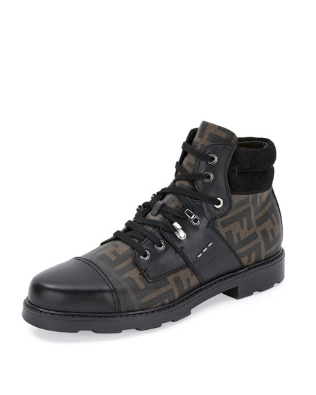 Zucca Leather Hiker Boot, Brown/Black