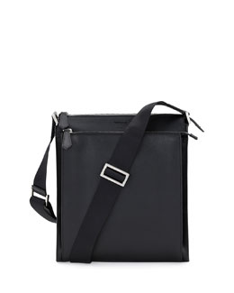 Fendi Elite Men's Small Messenger Bag, Black