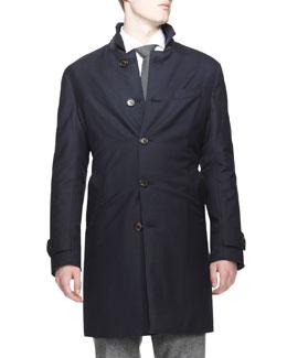 Reversible Car Coat, Navy/Navy