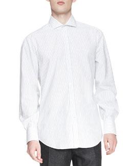 Fine-Stripe Poplin Shirt