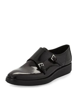 Double-Monk Flatform Shoe