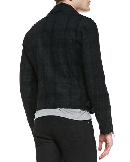 Boddington Plaid Biker Jacket
