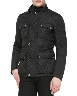 Parkstone Lightweight Quilted Tech Jacket, Black