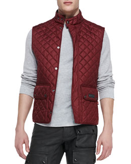 Belstaff Quilted Vest, Dark Red