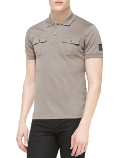 Belstaff Brindley Pique Short-Sleeve Polo