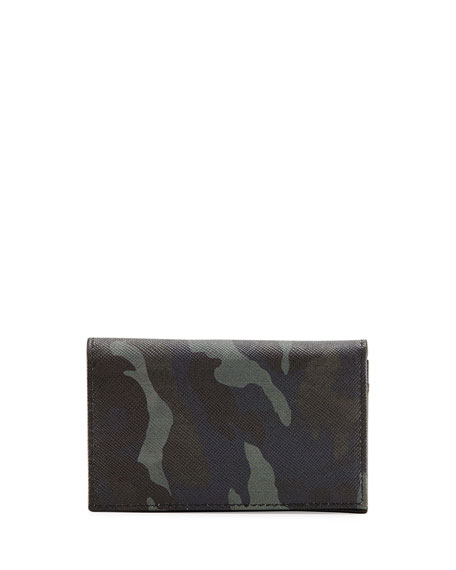 bag prada red - Prada Camo-Print Saffiano Card Case w/Flap, Blue