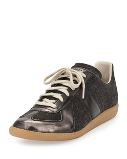 Maison Martin Margiela Replica Felt Low-Top Sneaker, Gray