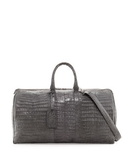 Speedy Crocodile Duffle Bag, Charcoal