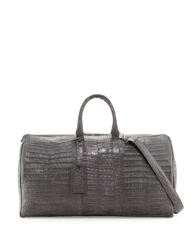 Speedy Crocodile Duffel Bag, Charcoal