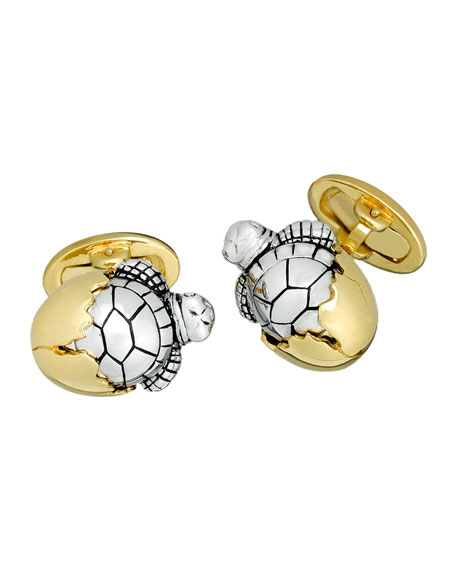 Hatching-Turtle Cuff Links