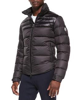 Moncler Dinant Matte/Shiny Puffer Jacket, Black
