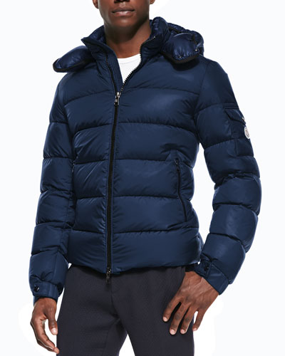 Himalaya Puffer Jacket with Hood, Blue
