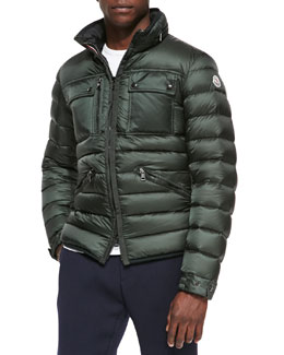 Moncler Norbert Quilted Puffer Jacket, Forest Green