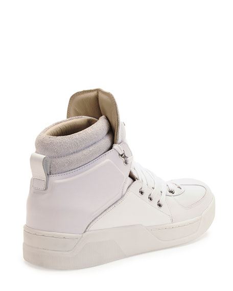 Benelux High-Top Sneaker, White