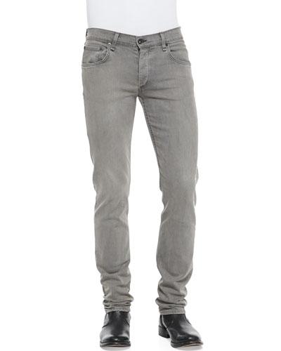 Slim Skinny Denim Jeans, Gray
