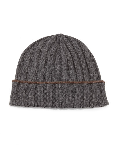 Cashmere Wide-Rib Hat