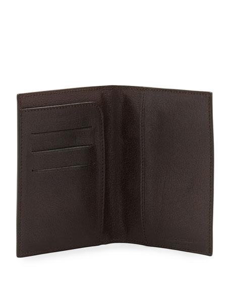 Leather Passport Holder, Brown