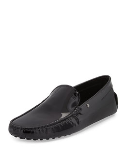 Tod's Patent Leather Driver, Black
