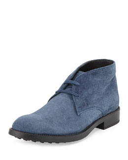 Tod's Esquire Suede Boot, Blue