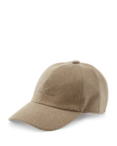 Cashmere Storm System Baseball Cap, Oatmeal