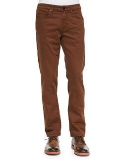 J Brand Jeans Kane Straight-Leg Saddle Jeans