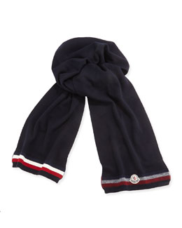 Moncler Cashmere Striped Reversible Scarf