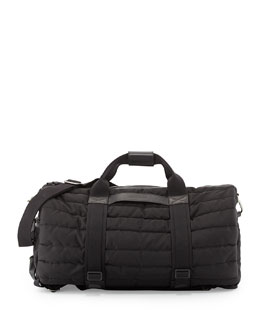Moncler Quilted Nylon Gym Bag, Black