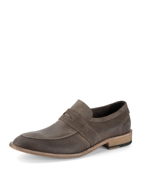 District Suede Slip-On Shoe, Mushroom/Tan
