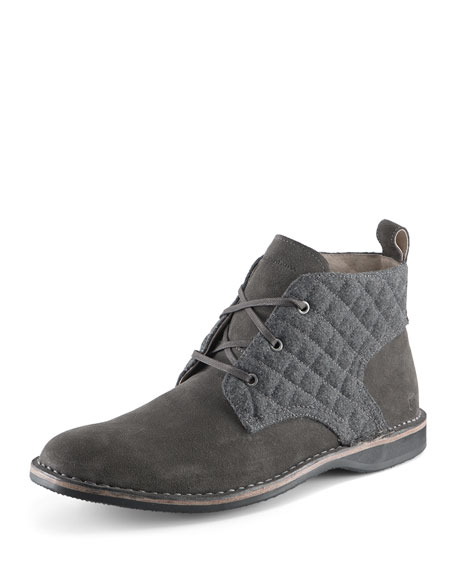 Andrew Marc Dorchester Canvas & Leather Chukka Boot,