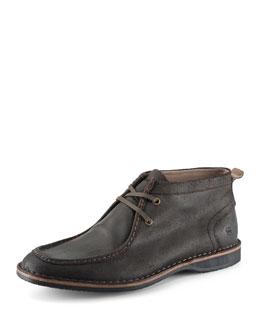 Dorchester Suede Moccasin Boot, Dark Brown