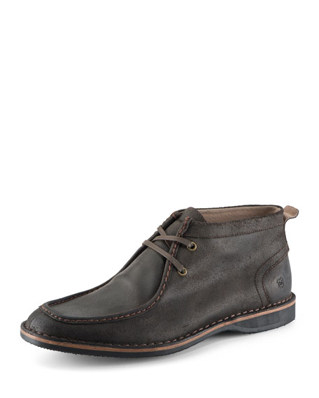 Dorchester Suede Moccasin Boot, Dark Brown