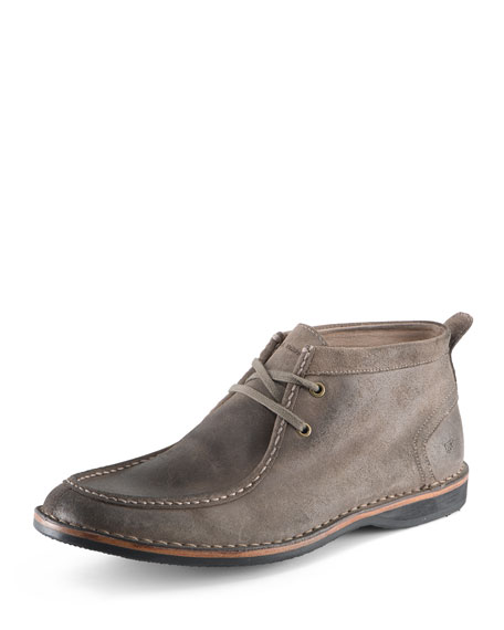 Andrew Marc Dorchester Suede Moccasin Boot, Tan