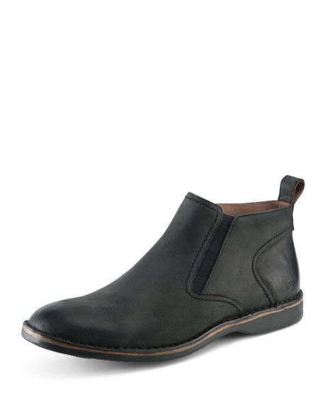 Andrew Marc Eugene Leather Ankle Boot, Black