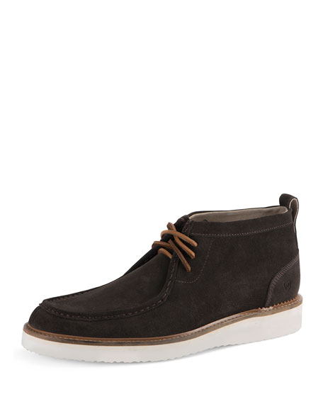 Andrew Marc Haven Suede Ankle Boot, Light Brown