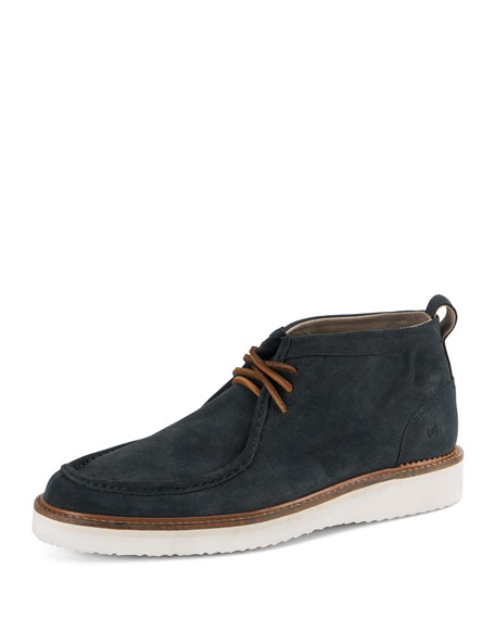 Andrew Marc Haven Suede Ankle Boot, Petrol Blue
