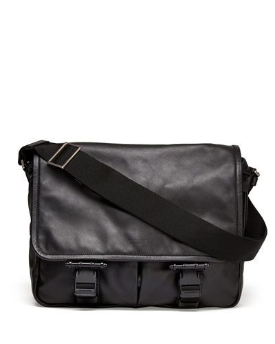 Obsedia Leather Messenger Bag