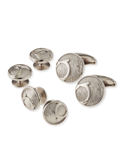 Gancini Cuff Links & Studs Set