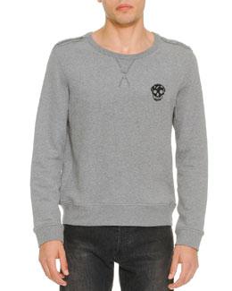 Skull-Logo Sweatshirt, Gray