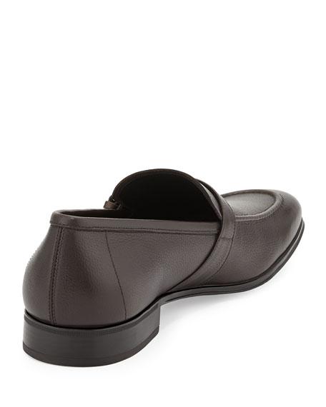 Side-Buckle Vara Loafer, Brown