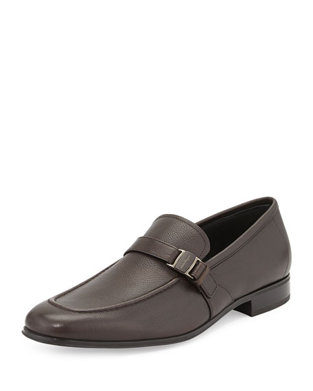 Side-Buckle Vara Loafer, Brown