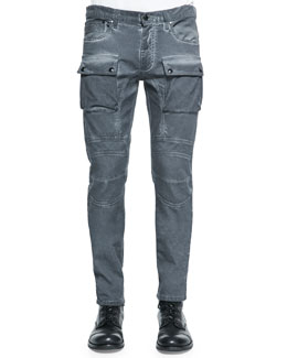 Felmore Two-Pocket Jeans, Gray