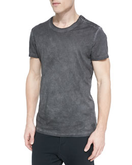 Bower Crewneck T-Shirt, Gray